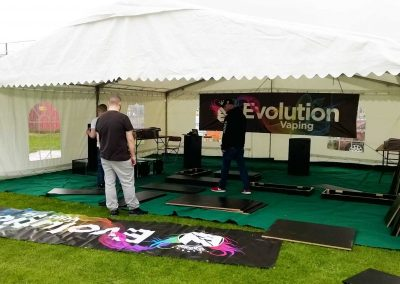 music event marquee hire
