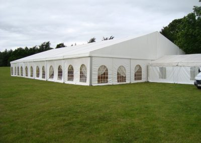 wedding marquee with entrance hall